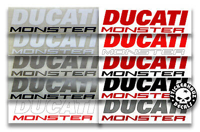 Ducati Monster decals stickers, pair, many color, # 400