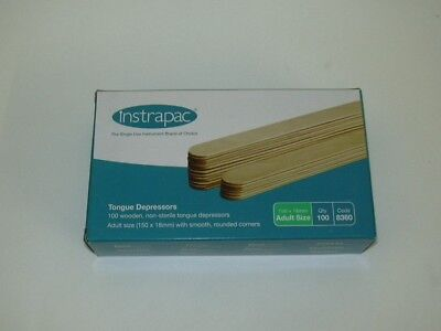 Wooden Tongue Depressor x 100 Robinsons Healthcare Waxing Quality UK STOCK