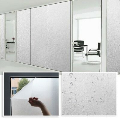 Frosted Window Glass Sticker Privacy Film Static Self-Adhesive Cover For Home