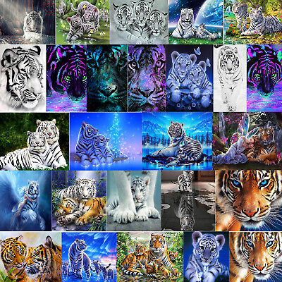 5D Tiger Kombination DIY Diamant Malerei Stickerei Diamond Painting Kreuzstich