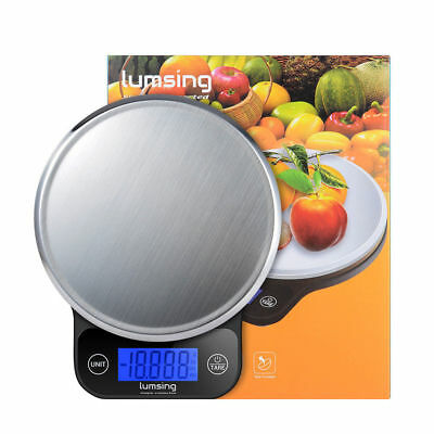 6kg Digital LCD Electronic Kitchen Scales Stainless Steel Cooking Food Weighing