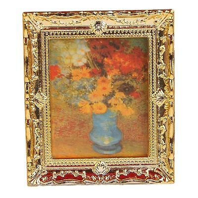 1:12 Gold Frame Oil Painting Wall Picture Dollhouse Miniature Home Accessory