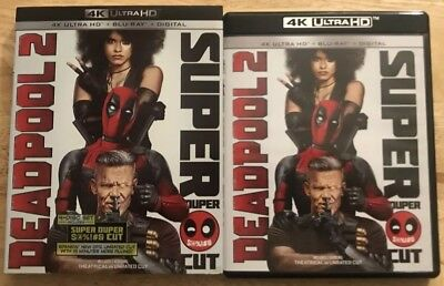 Marvel Deadpool 2 Super Duper Cut 4K Ultra Hd Blu Ray 4 Disc Set + Slipcover Buy