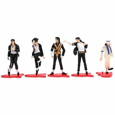 "King Of Pop Michael Jackson 4"" Figures 5 Pose Figurines Set Doll Statue Toy Gift"