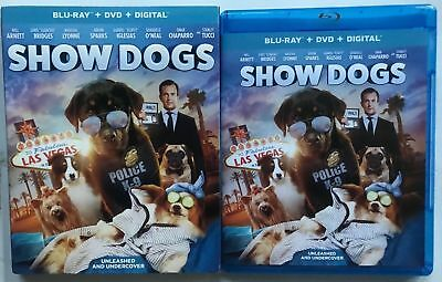 Show Dogs Blu Ray Dvd 2 Disc Set + Slipcover Sleeve Free World Wide Shipping