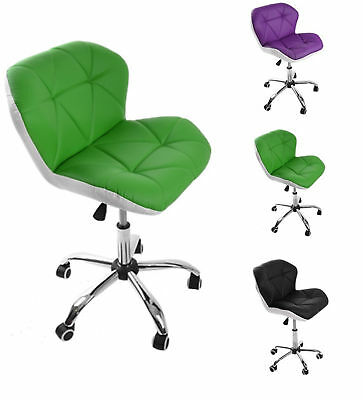 New Office PU Leather Chair Computer Desk Adjustable Ergonomic 360° Swivel