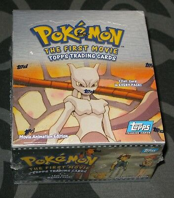 Pokemon - The First Movie Topps Trading Cards - Sealed Booster Box