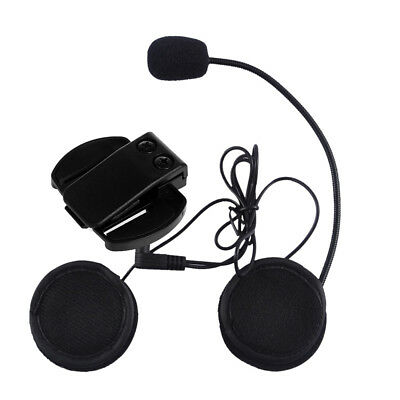 Wired Headphone Mic/Speaker+Clip for V4/V6 Motorcycle Bluetooth Helmet Intercom