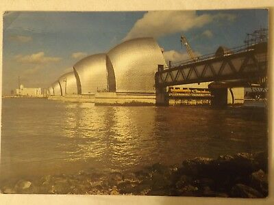GLC Thames Barrier - London - England - Vintage - Collectable - Postcard.