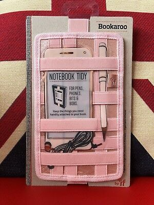 Bookaroo Notebook Tidy - Rose Gold. For Pens, Phones, Bits and Bobs. Gift, New