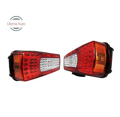2x Led Rear Combination Lights Lamps Stop Fog Reverse Alarm For Volvo Fh12