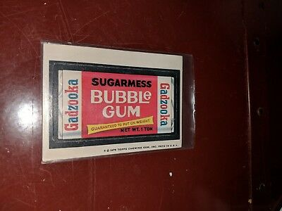 1975 Topps Original Wacky Packages 14th Series Gadzooka white back