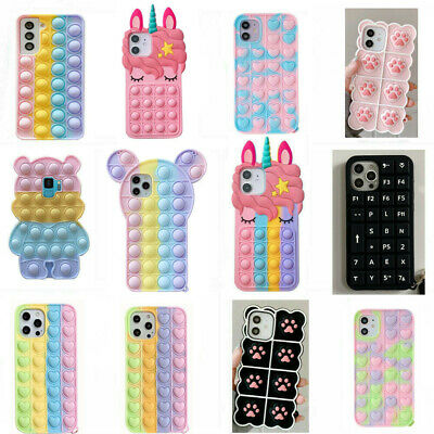 For Samsung S8 9 Plus 6 7 Note 8 Cute 3D Cartoon Soft Silicone Phone Case Cover