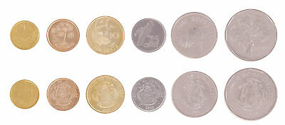 Seychelles 1 Cent - 5 Rupees 6 Pieces - PCS Coin Set, 2014-2012, KM # 46-49,Mint