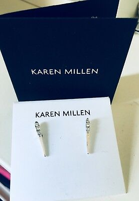 825a85985534 KAREN MILLEN SWAROVSKI Crystal Dot Drop Earrings - Brand New ...