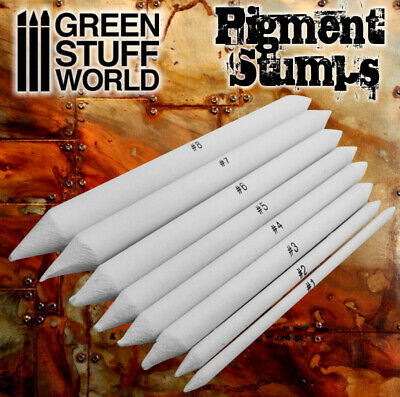 Set 8x Blending Stumps for Pigments, Charcoal, Weathering, Pencil, Watercolour