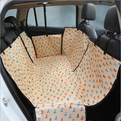 Car Back Seat Cover Hammock Dog Cat Pet Seat Cover Mat Waterproof Anti-Dust  US
