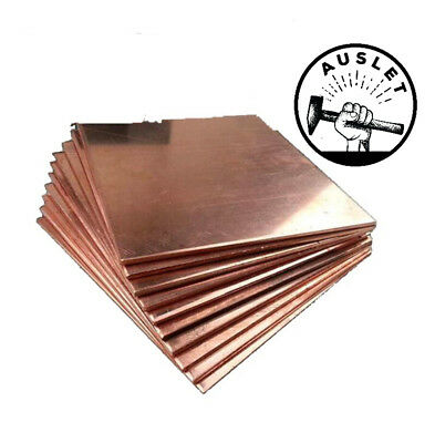 Red Copper Thin Bar Plate - 100mm x 150mm x 1mm
