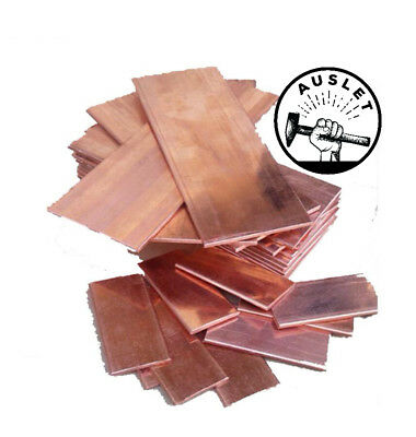 Thin Red Copper Bar Plate - 100mm x 150mm x 4mm