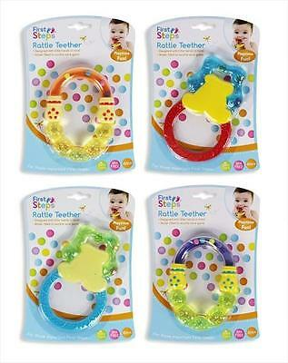 First Steps Water Filled Rattle Teether for Babies 6m+ Safe & Soothing for Baby