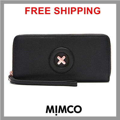 MIMCO DAYDREAM BLACK XL Leather WALLET leather Authentic New with tag RRP 249 DF