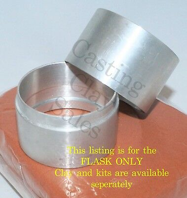 150mm Interlocking Flask - Delft Style Casting Clay Sand Rings Silver Impression