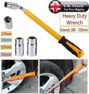 Heavy Duty Extendable Wheel Brace Socket Telescopic Tyre Nut Wrench 17 19 21 23