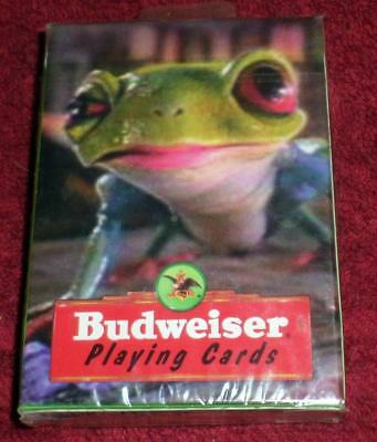 New still sealed in plastic 1996 Budweiser Frog Playing Cards Free Shipping