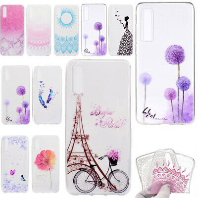 Clear Pattern Silicone Rubber Soft Case Cover For Huawei P20 P10 P9 P8 Lite 2017