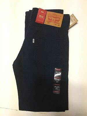 NWT Authentic Levis 511 Slim Fit Dark Blue Twill Jeans 2% Stretch (2245)