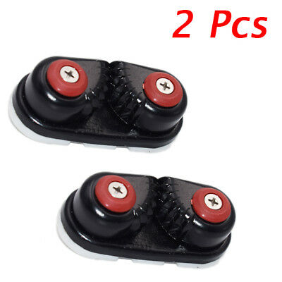 2PCS Nylon Cleat 33 Black Cam Cleat Suit For Dia 10-14mm Rope Boat Service Tools