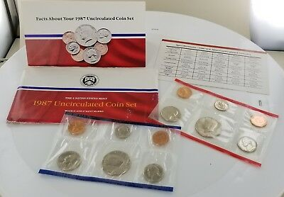 1987 Uncirculated Coin Set with D and P Mint Marks