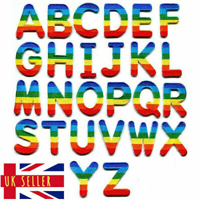 Rainbow Letter Patch Patches Iron on / Sew on Retro Alphabet Pride Clothes