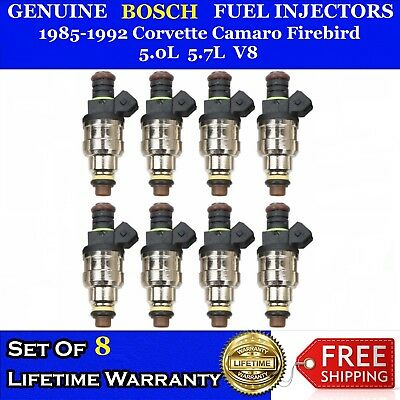 Set 8 OEM Bosch Fuel Injectors For 86-91 Chevrolet Camaro Firebird 5.0L 19lb