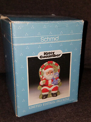 Vintage 1989 Schmid Kitty Cucumber Baby Pickles First Christmas Figurine