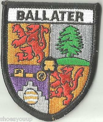 Ballater Scotland Crest Flag World Embroidered Patch Badge