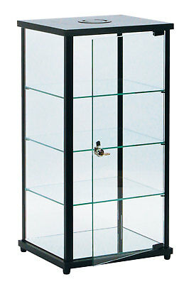 """Lighted Glass Countertop Display Case - 27""""H x 12""""D x 14""""L"""