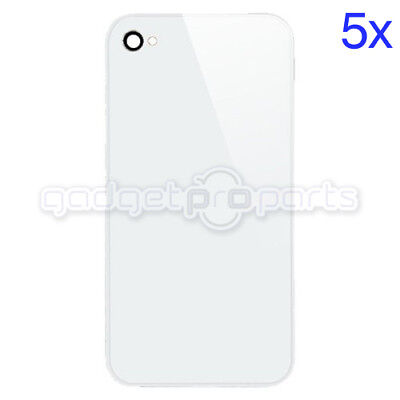 iPhone 4S/4 CDMA Back Glass NO LOGO (White) 5x - FREE SAME DAY SHIP MON-SAT