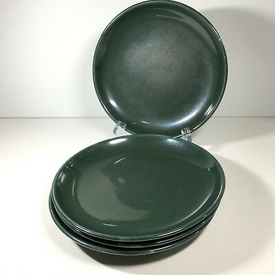 4 Russel Wright China Iroquois Bread & Butter Plates Parsley Green Mid Century