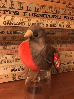 Ty Beanie Babies Early The Robin Bird Retired With  Errors March 20, 1997