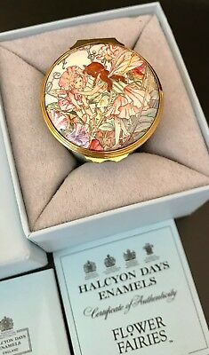 Halcyon Days Enamel Box Flower Fairies Cicely Mary Baker Limited Edition