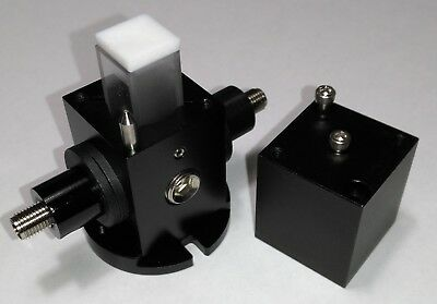 Light-tight Cuvette and 15mm-Vial Housing with Two SMA 905 Fiber Adaptors