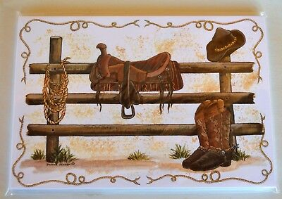 New Pkge 18 Blank Western PostCards Posies and Such by Donna Jensen Saddle Boots