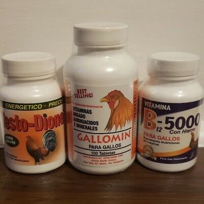 Combo Pack (Testodione,Gallomin,B-complex) one of each.