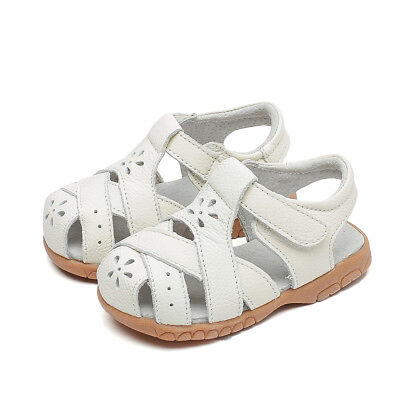 Lia real leather sandals girls white shoes baby toddler kids child s4-8 appx1-3y