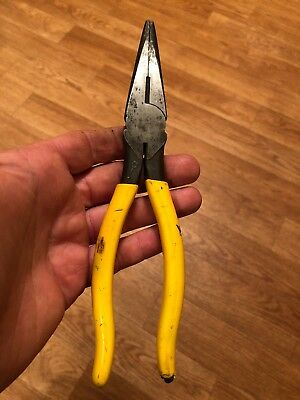 Klein Tools D203-8 Insulated Heavy Duty Needle Nose Pliers 8''