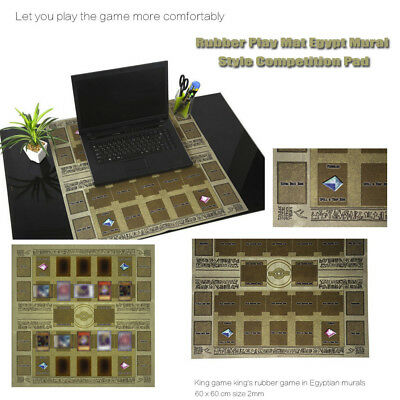 Yu-gi-oh Card Rubber Play Mat Egypt Style 60 × 60cm Link summon Correspondence