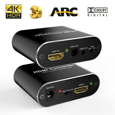 hdmi audio extractor 4k 60hz HDCP 1.4 HDMI to Optical Toslink SPDIF Aux audio