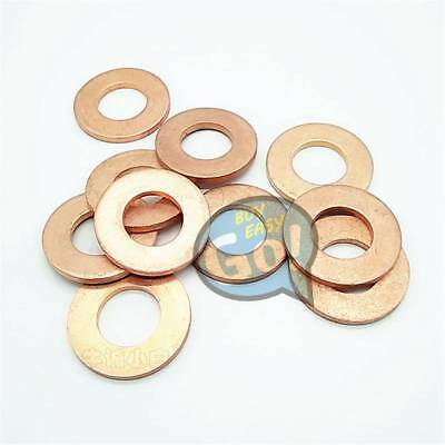 Multiple Copper Flat Gaskets Crush Washer Sealing Ring Spacer Thick 2mm For Boat