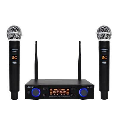 Wireless Microphone for Karaoke System Handheld 2 channels UHF Frequencies